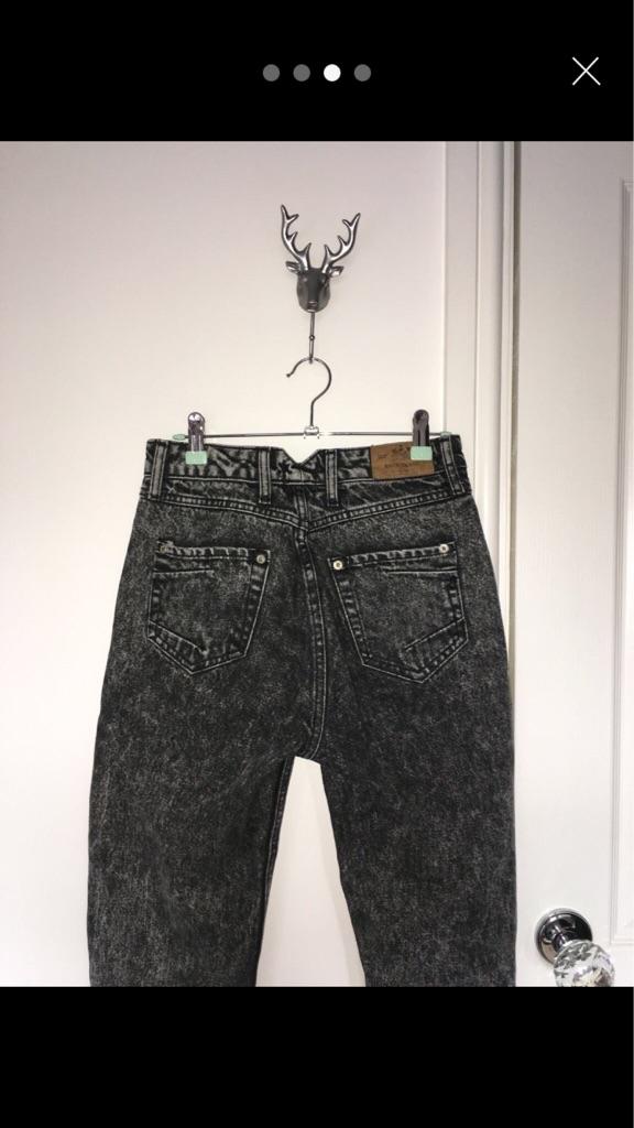 River Island acid wash mom jeans