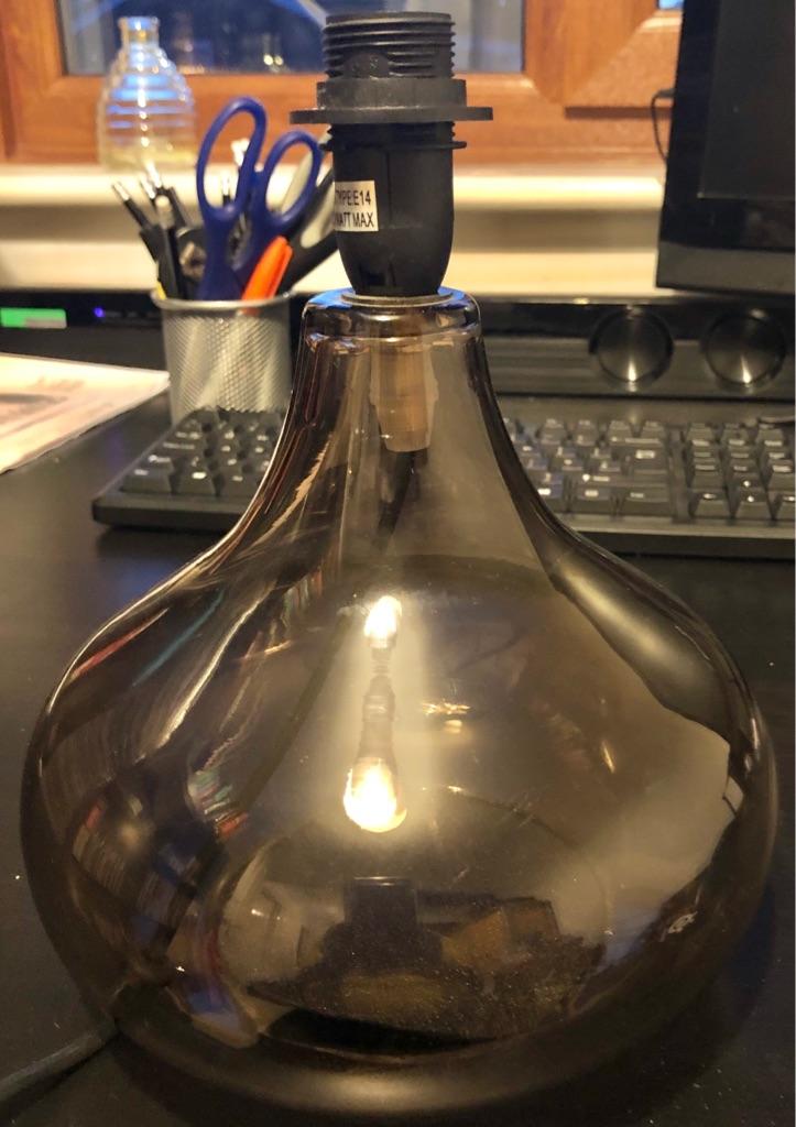 GLASS GLOBE TABLE LAMP BASE