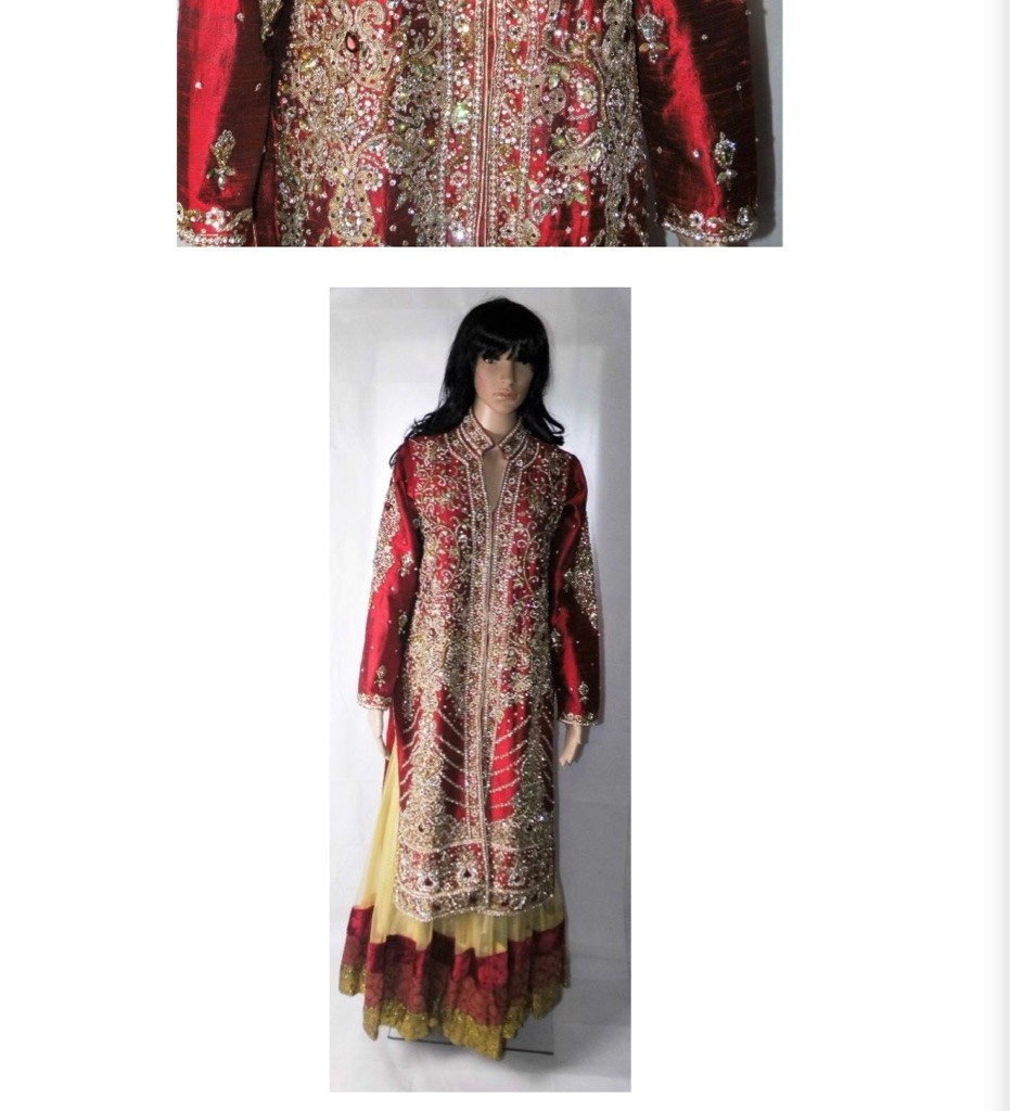 Asian bridal. Only worn once. Red