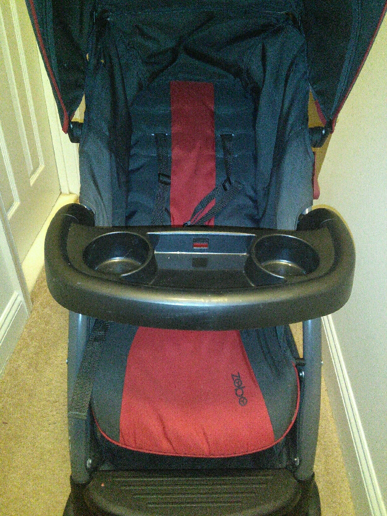 Zobo red and black stroller