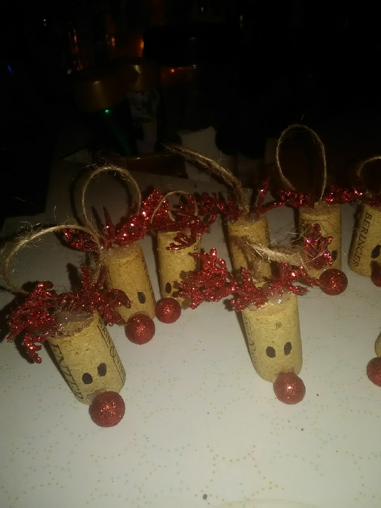 Rudolph cork ornaments