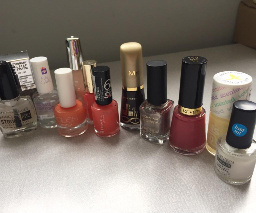 Selection of nail polish/varnish