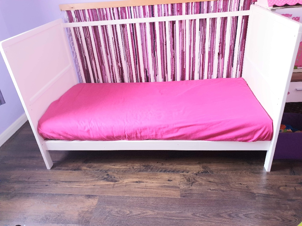 Cot and Children Bed up to age 7-8 with Mattress