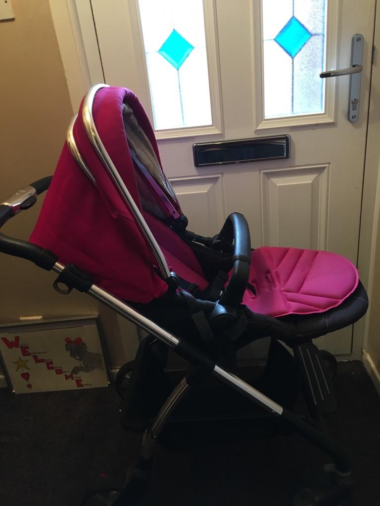 Pink silvercross buggy