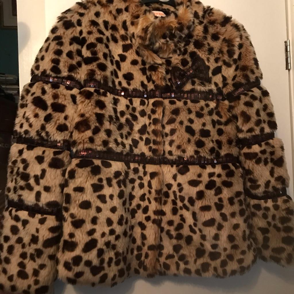 A Gorgeous Girls 11-12 Faux Fur Coat