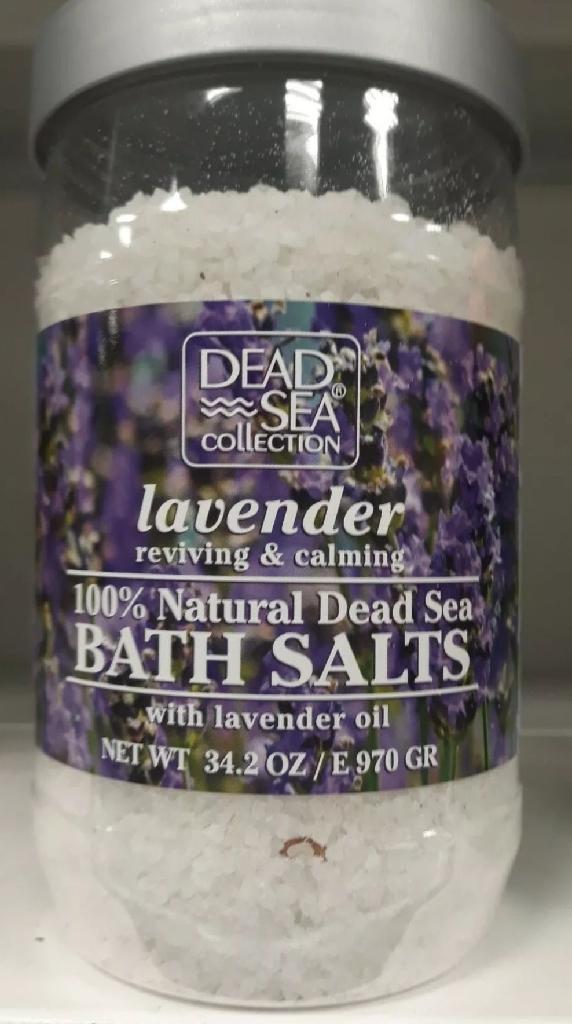 Dead Sea Collection 100% Natural Lavender Bath Salts 34.2 OZ / E 970 GR