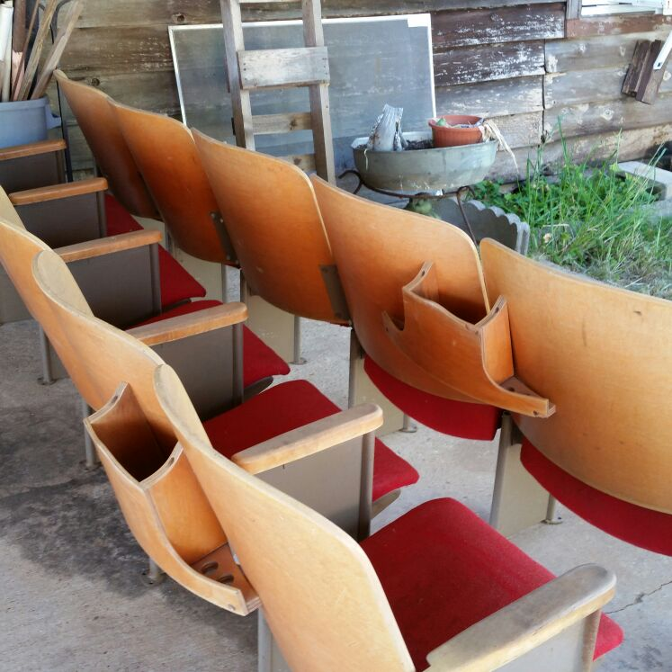 Old church, theatre  pews