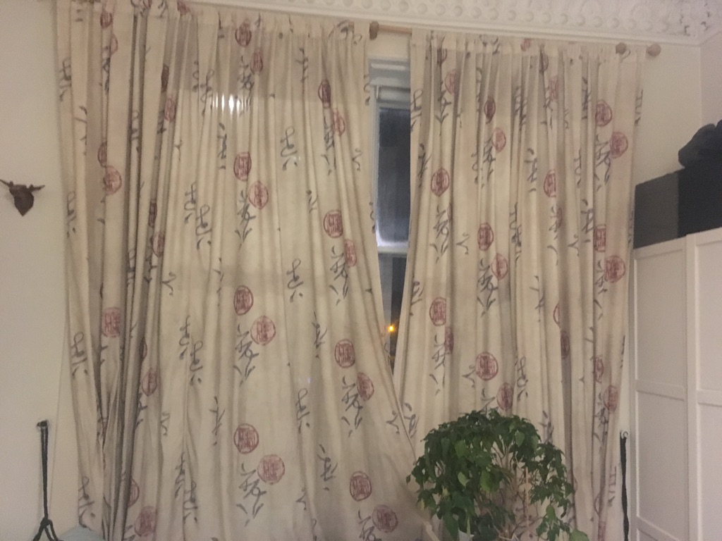 Free curtains for large windows (h300x w250)
