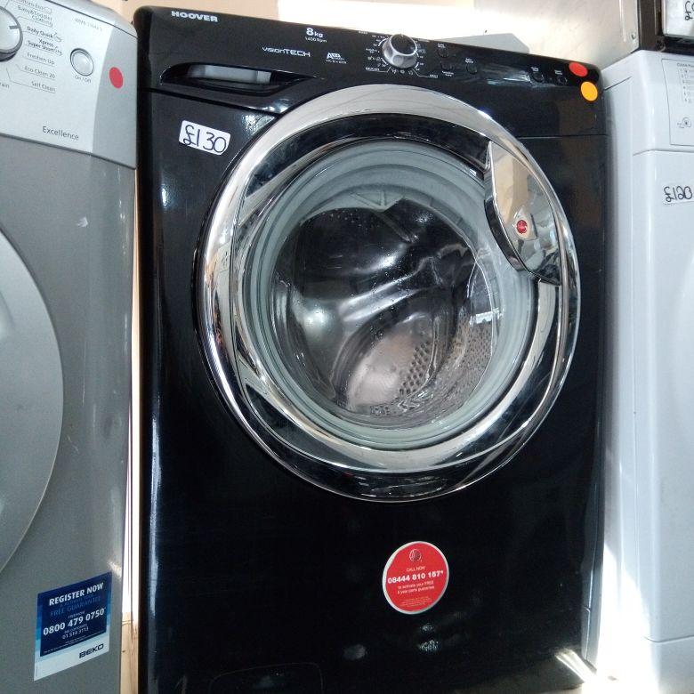 Black washing machine