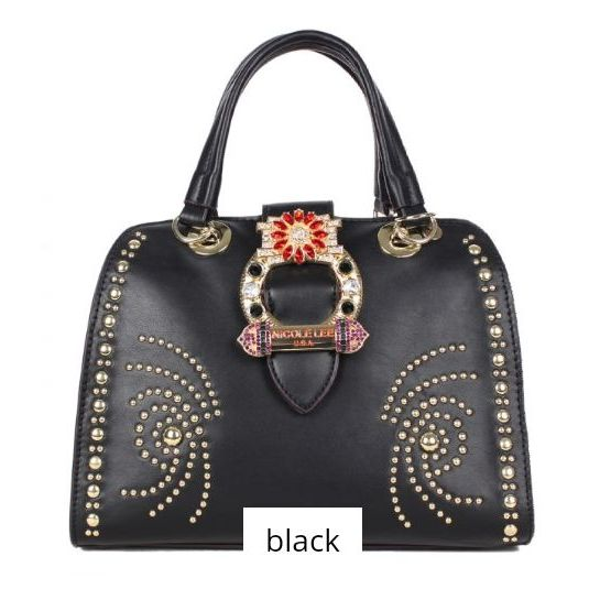 Black handbag nicole lee
