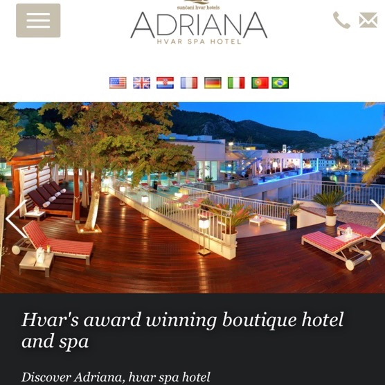 10 night stay for two in 4 star Spa Hotel – Hvar – Flights and Transfers inc.