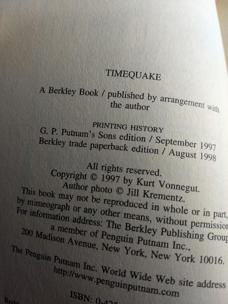 Kurt Vonnegut book