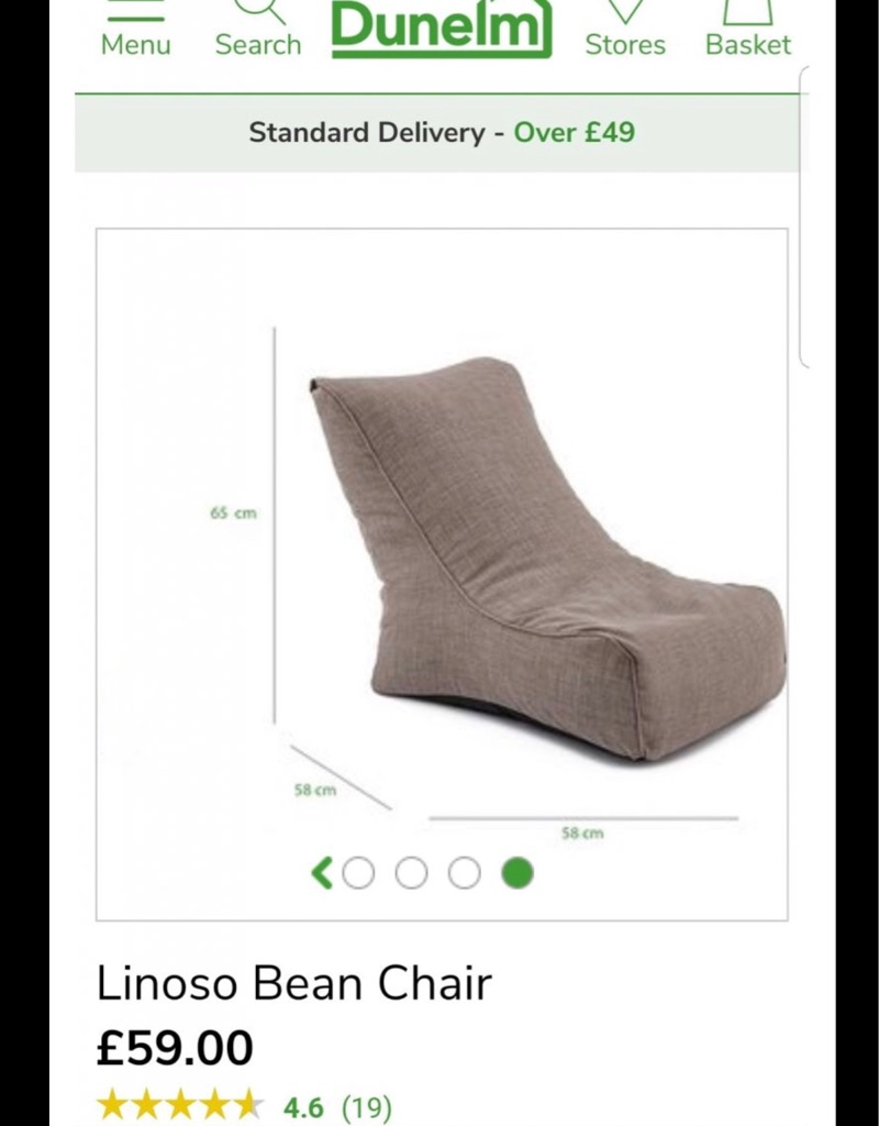 Large adult bean bag chair