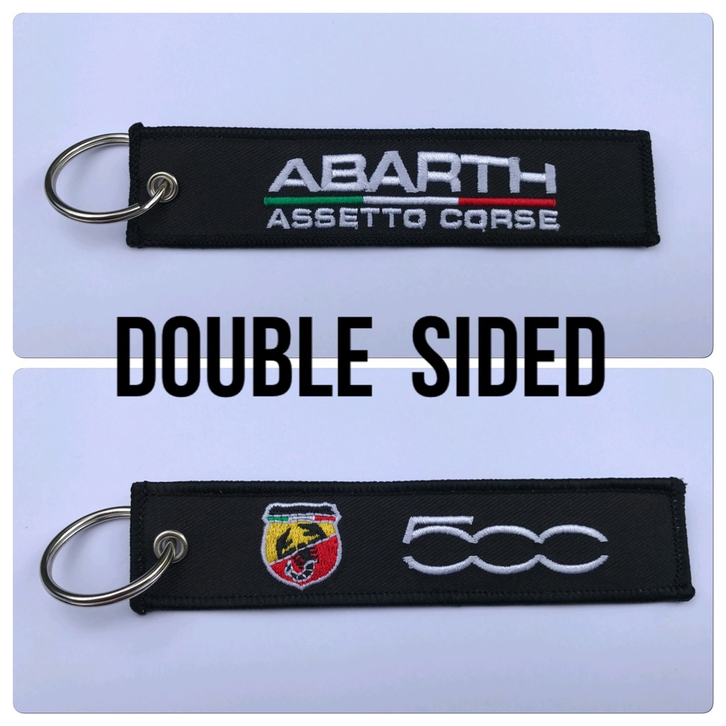 Embroidered Key Ring Keyring Keyfob Gift Abarth 500 TJet Sport Turbo