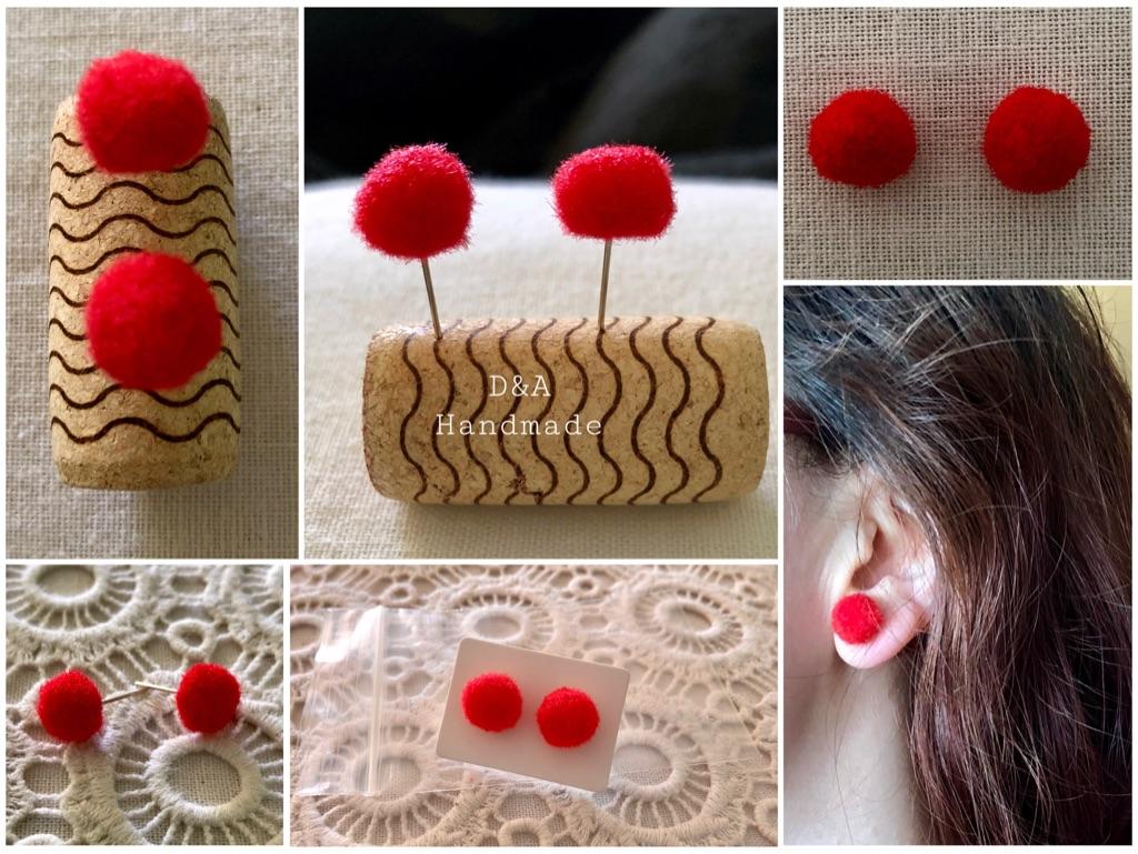 """D&A Style"" Red Handmade 🙌 Soft Fluffy Pom Pom"