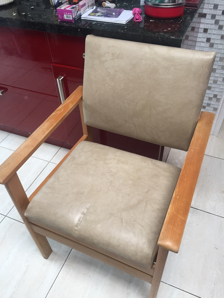 Leather upholstered commode for sale