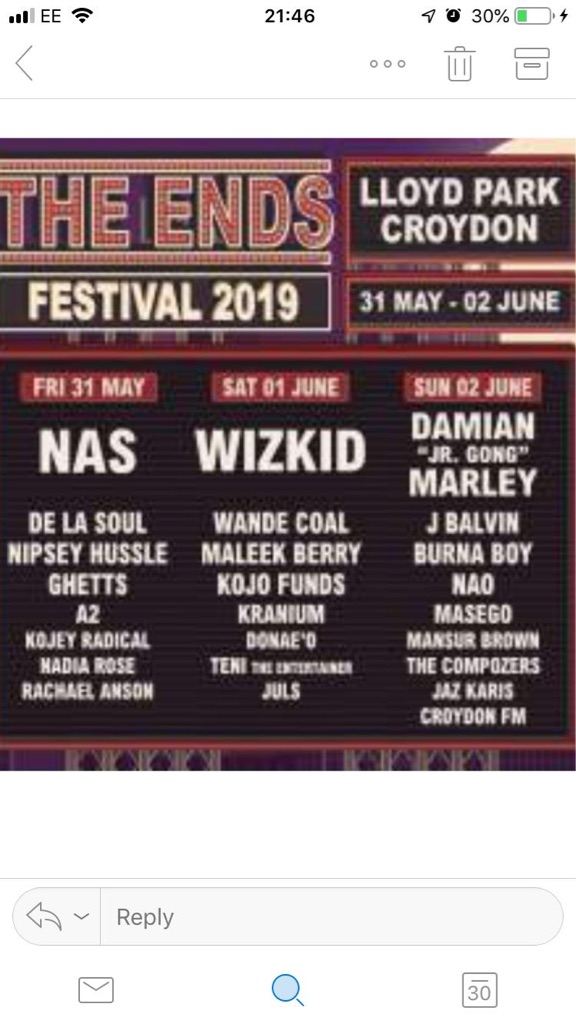 Nas The Ends tickets Today!