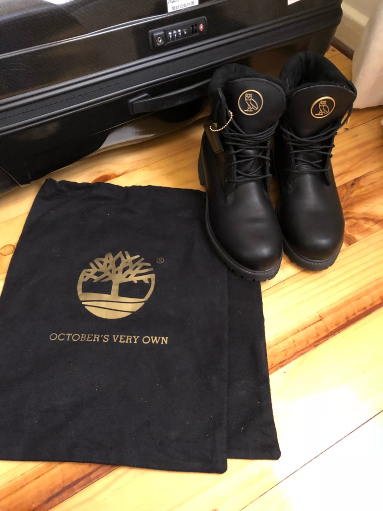 OVO X TIMBERLAND BOOTS 7.5 AS NEW
