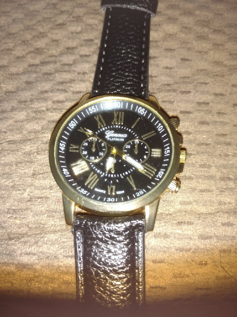 BRAND NEW MENS GENEVA PLATINUM WATCH
