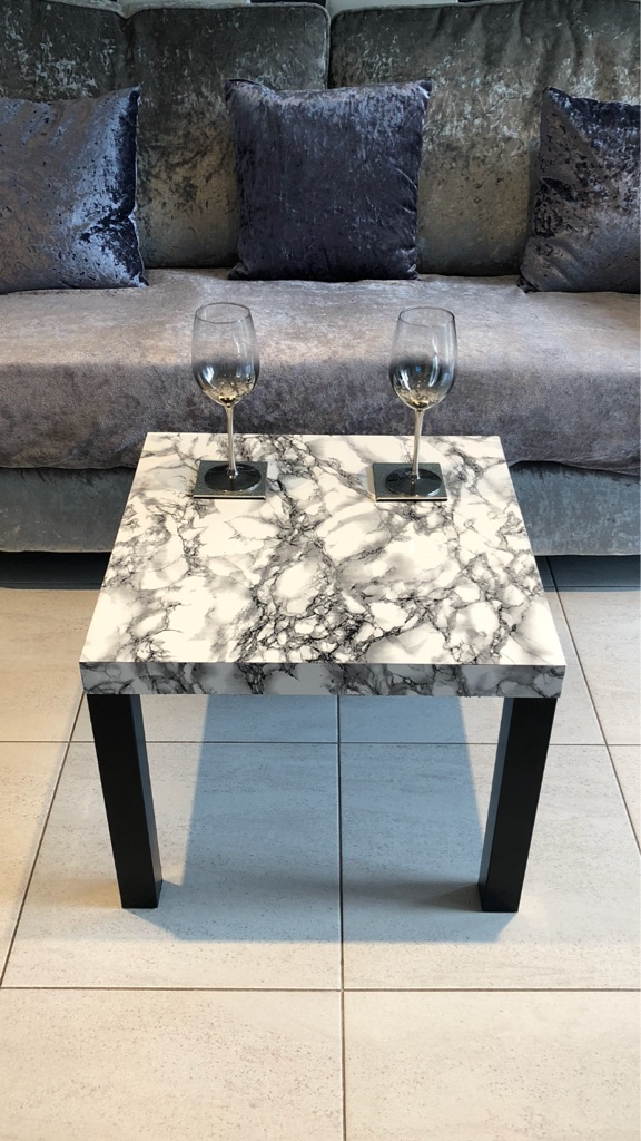 Marble wrapped tables