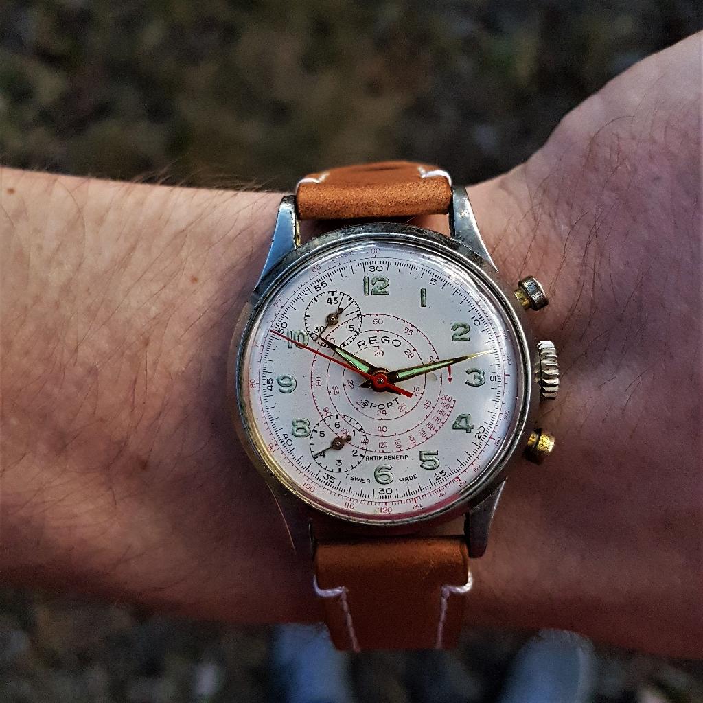 Mens Vintage 1960s Mechanical Chronograph Watch