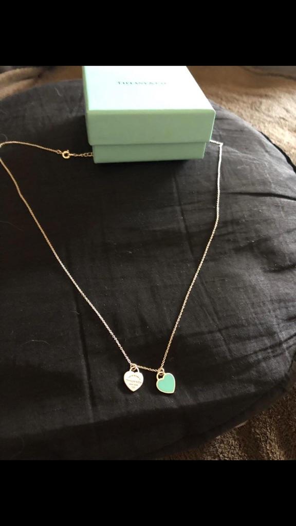 Tiffany & Co hearts Necklace hallmarked
