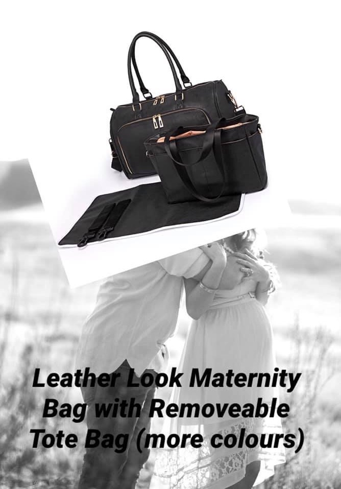 Leather Look Maternity Bag 💼 with Removeable Tote Bag