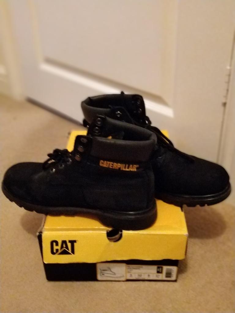 Original Cat Caterpiliar Mens Shoes Boots Colorado Black EU42 UK8