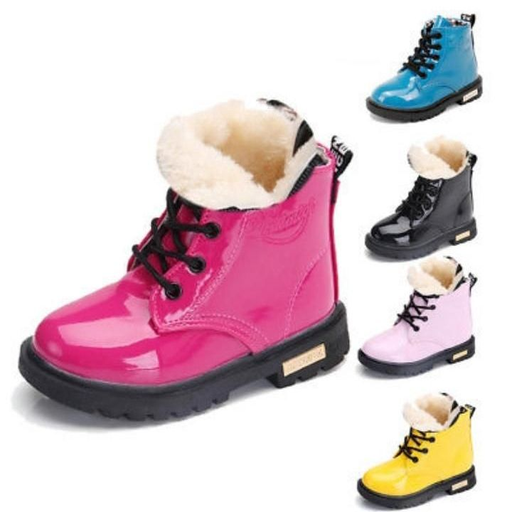 Winter warm lace up fur boots