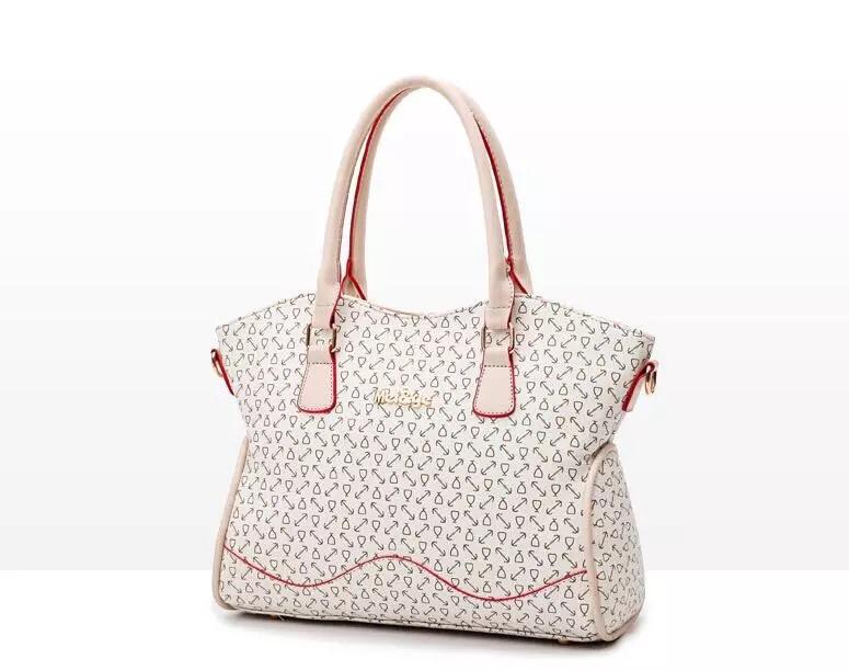 6pcs/lot Luxury Designer Women Handbag Set Top Quality PU Leather Women Purse
