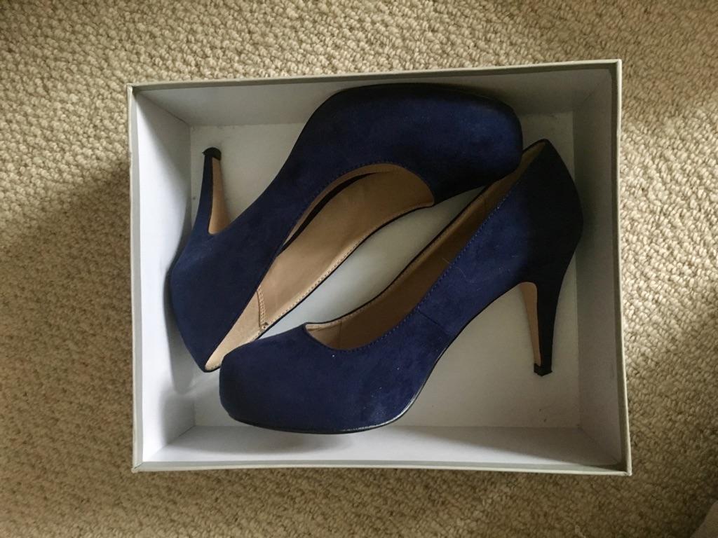 Carvela by Kurt Geiger blue suede shoes