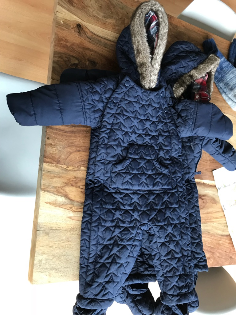 2 Navy Blue Marks and Spencer's Snow suite