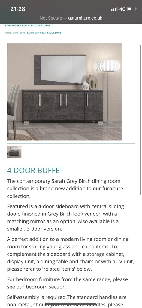 grey marble effect buffet