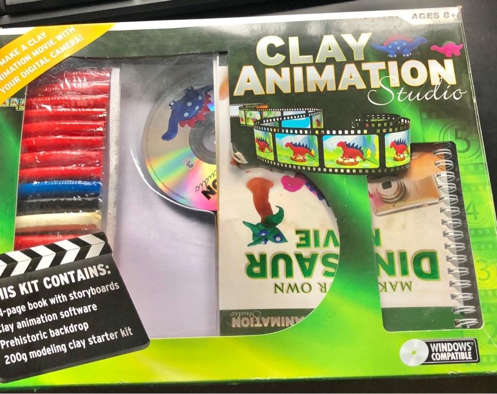 CLAY ANIMATION MAKE YOUR OWN DINOSAUR MOVIE KIT