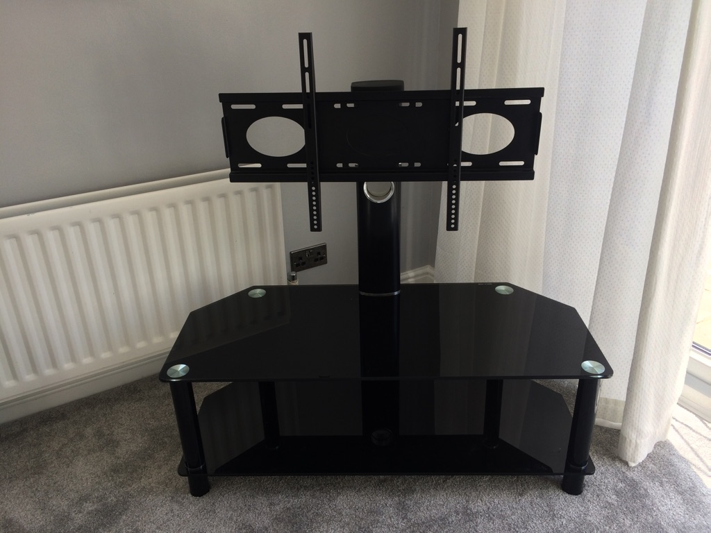 Black glass television stand from John Lewis