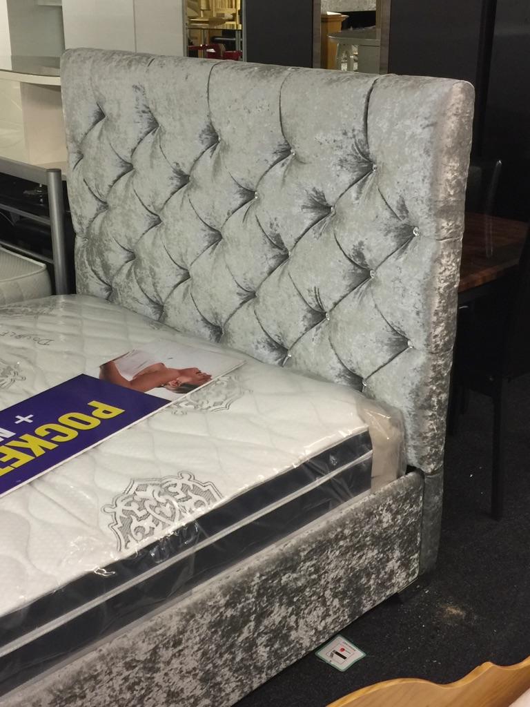 Brand new crushed velvet bed frame £199