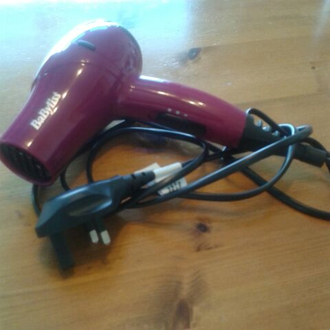 Babyliss travel hairdryer