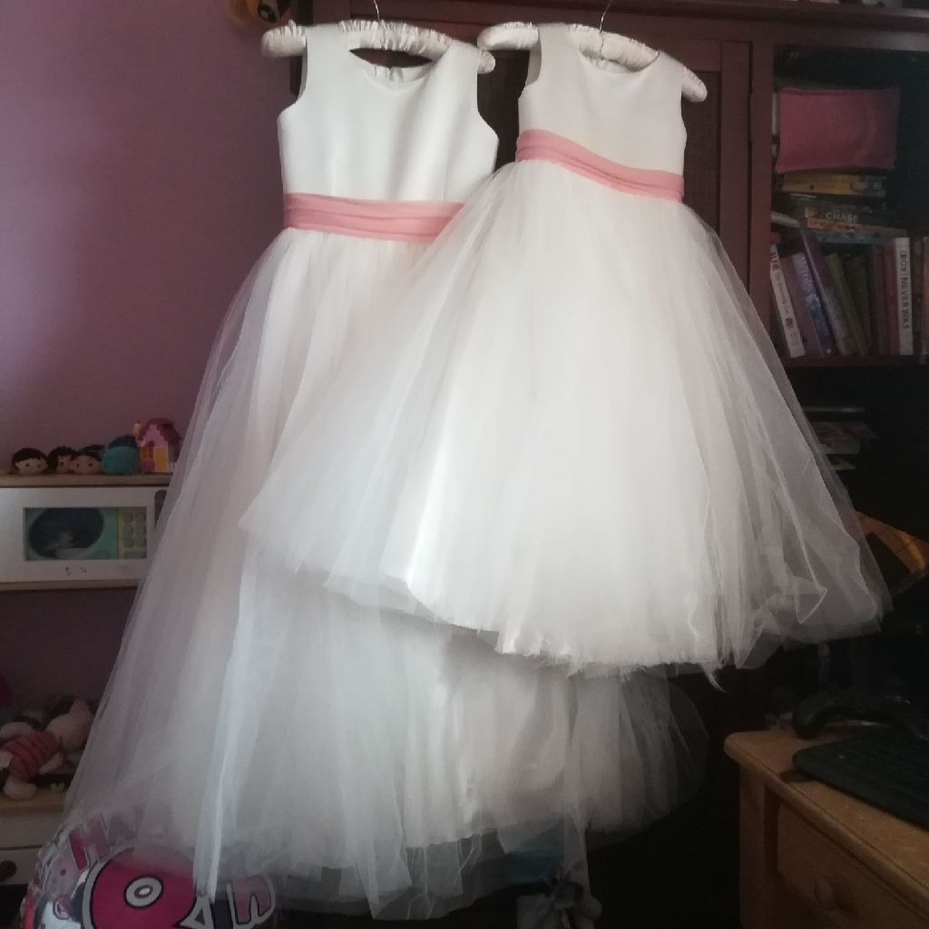 Bridesmaid dresses age 11 and age 7