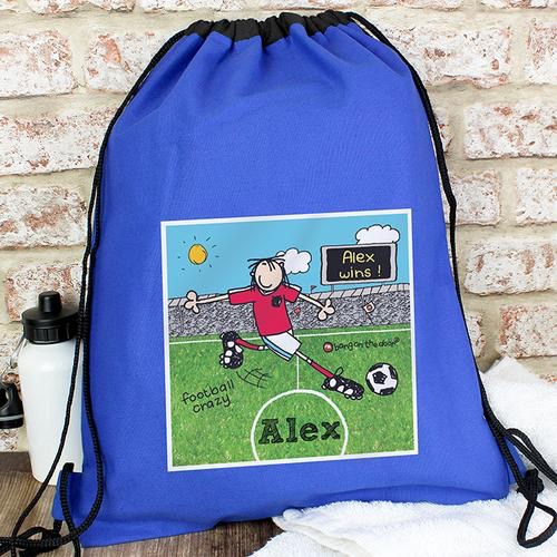 Personalised bang on the door football crazy swim & kit bag
