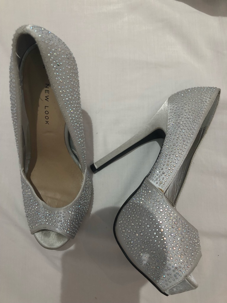 New look sparkly heels