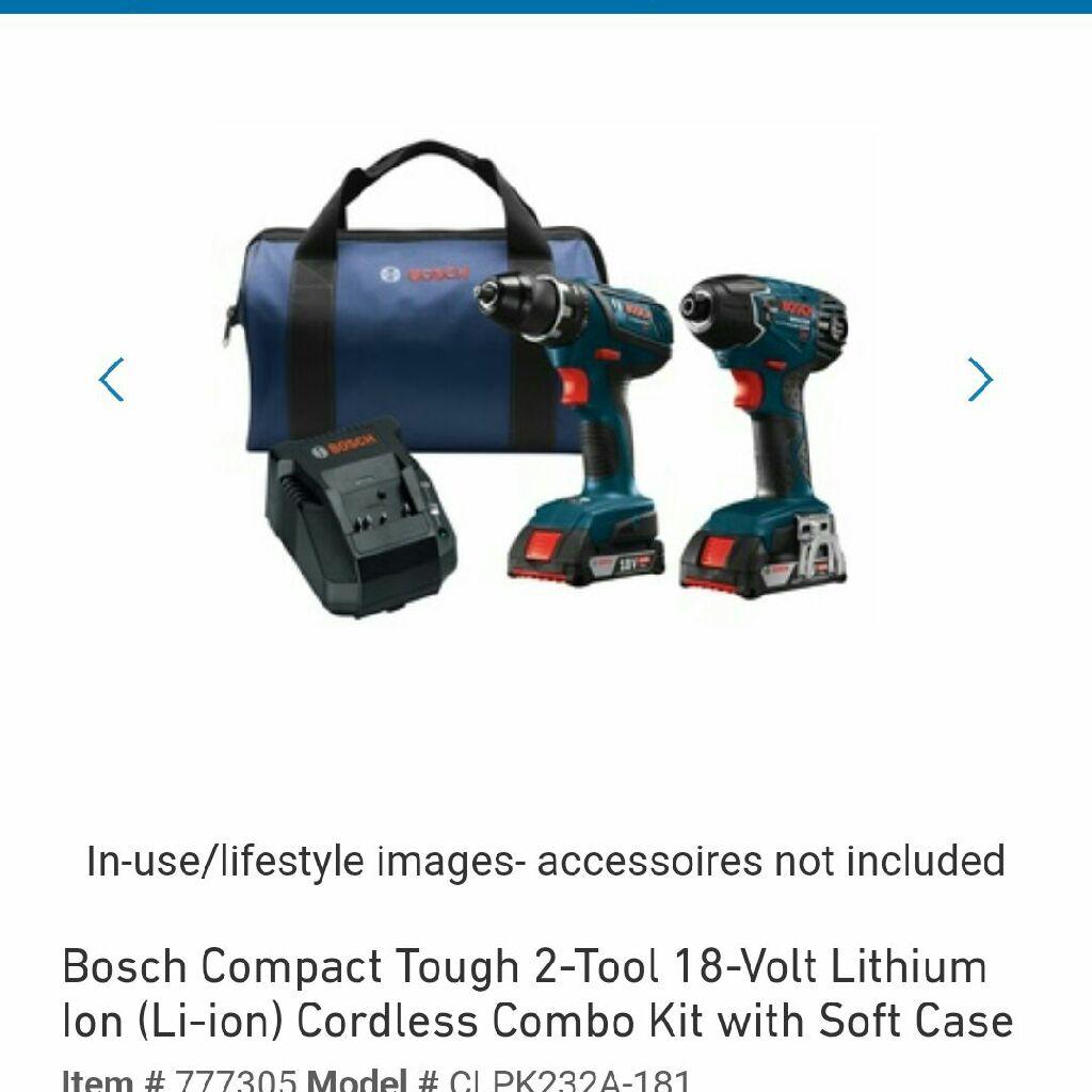 Bosch w piece drill set.