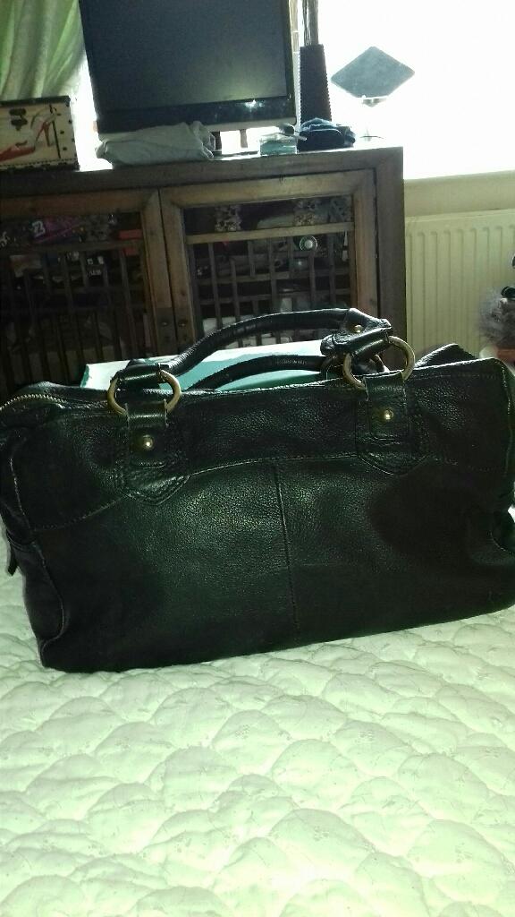Genuine leather handbag /weekender bag