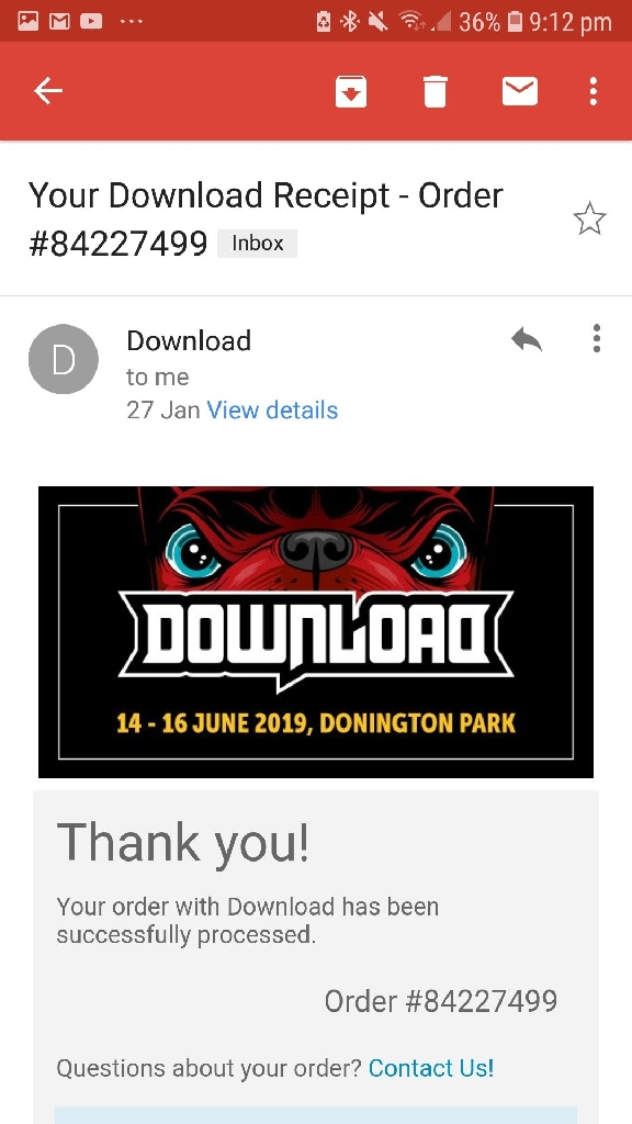 Download Festival weekend ticket 2019