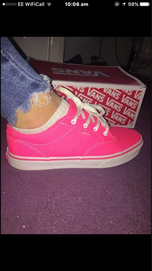 8b5493958b6079 Pink vans in box size 5 ...