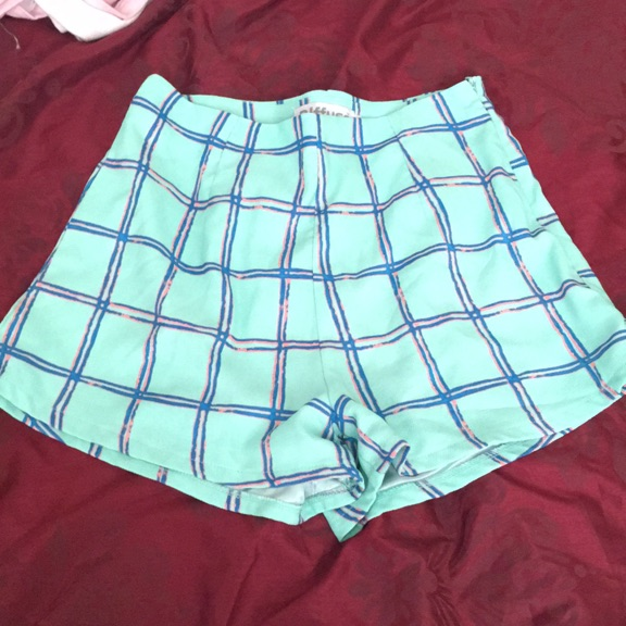 Mint green high shorts