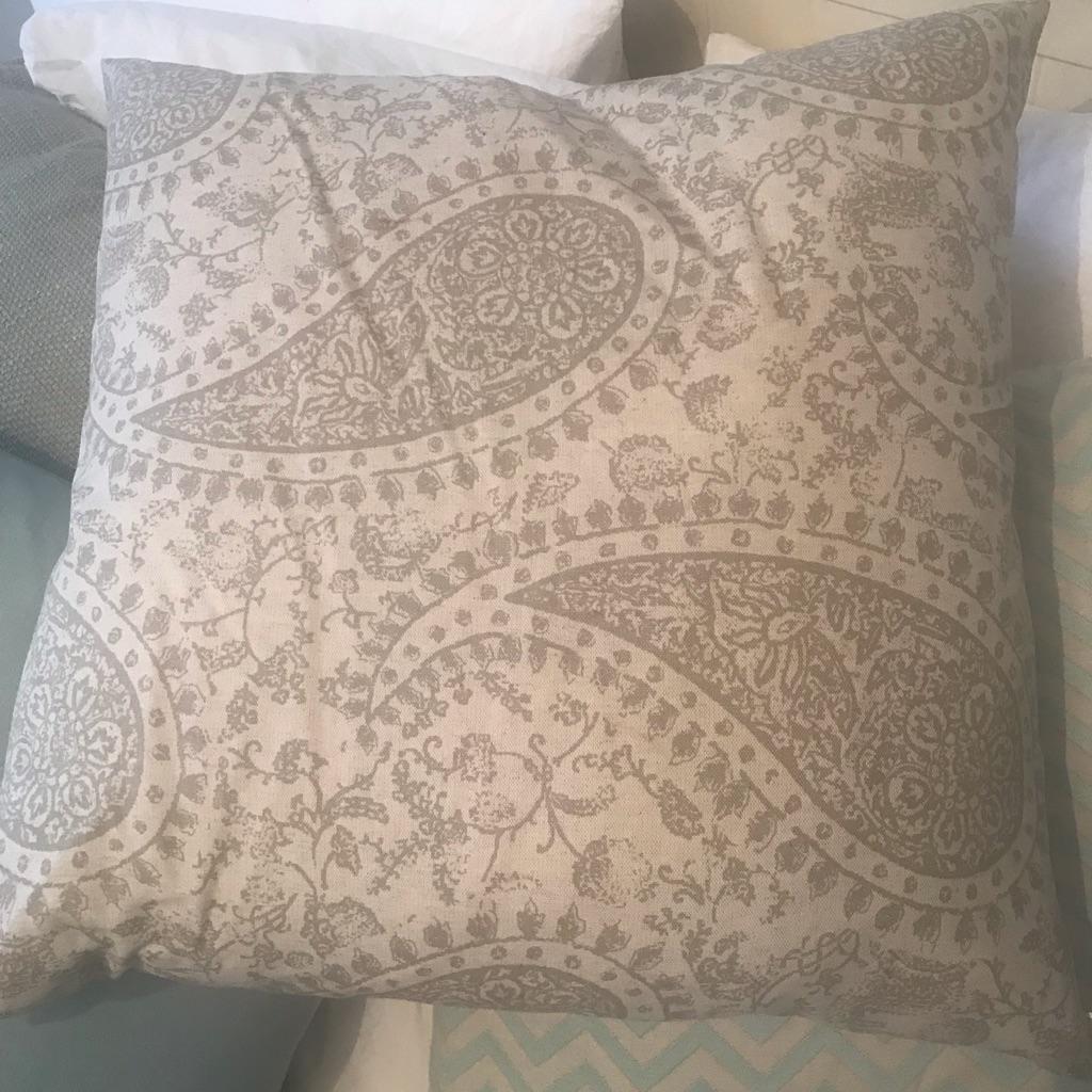 Beautiful paisley print cushion