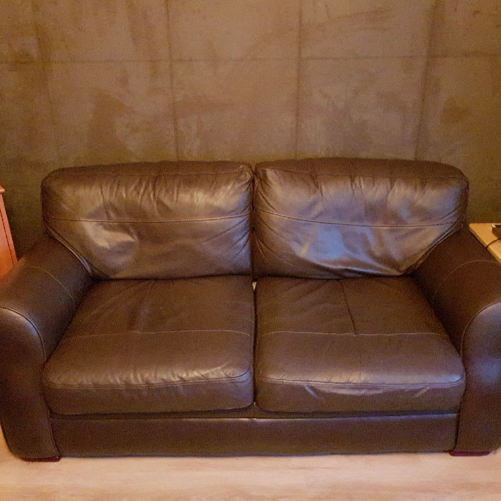 Reid\'s Chicago Chocolate Brown leather sofas