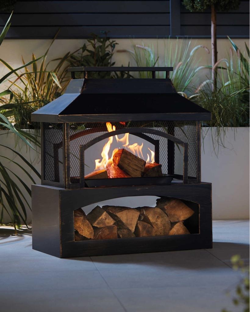 Wood log burner brand new