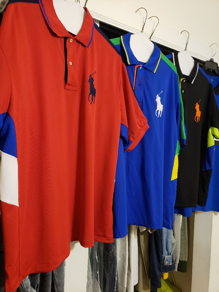 3 POLO STRETCH FIT SPORT SHIRTS FOR $100