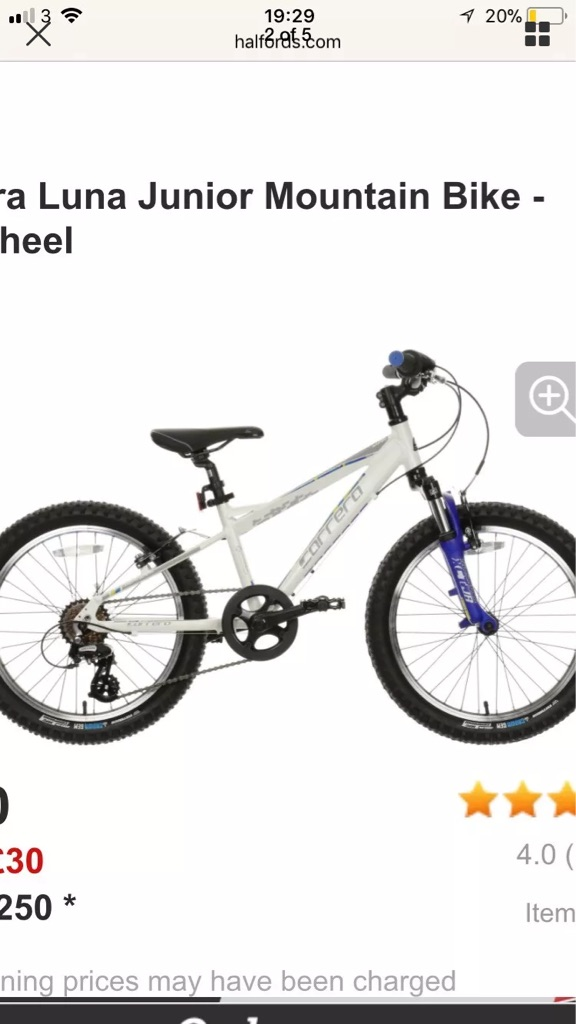 Child's carerra 20 inch bike
